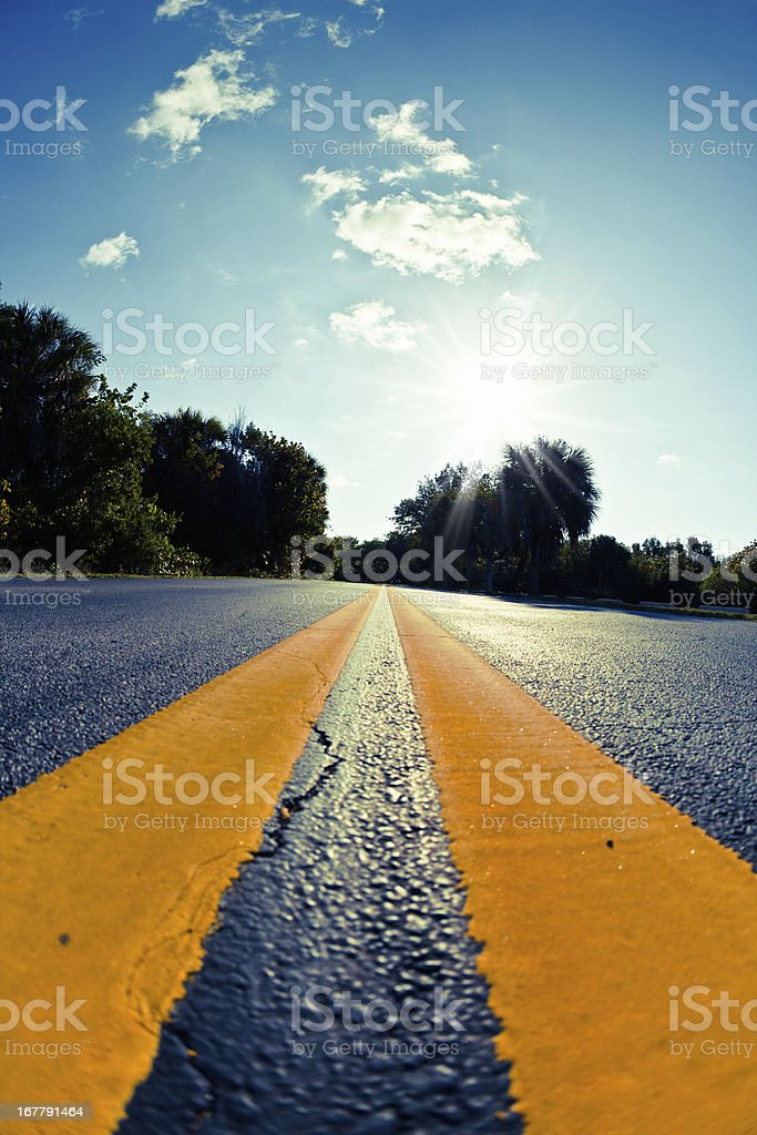 Country road in USA royalty-free stock photo