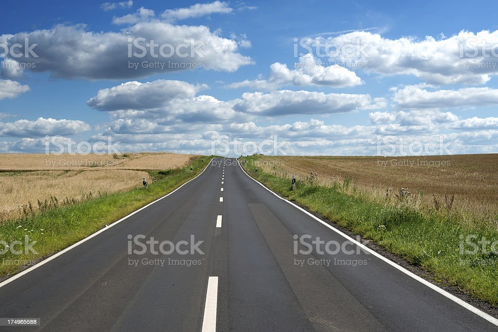 Country road, Landstrasse, Germany stock photo