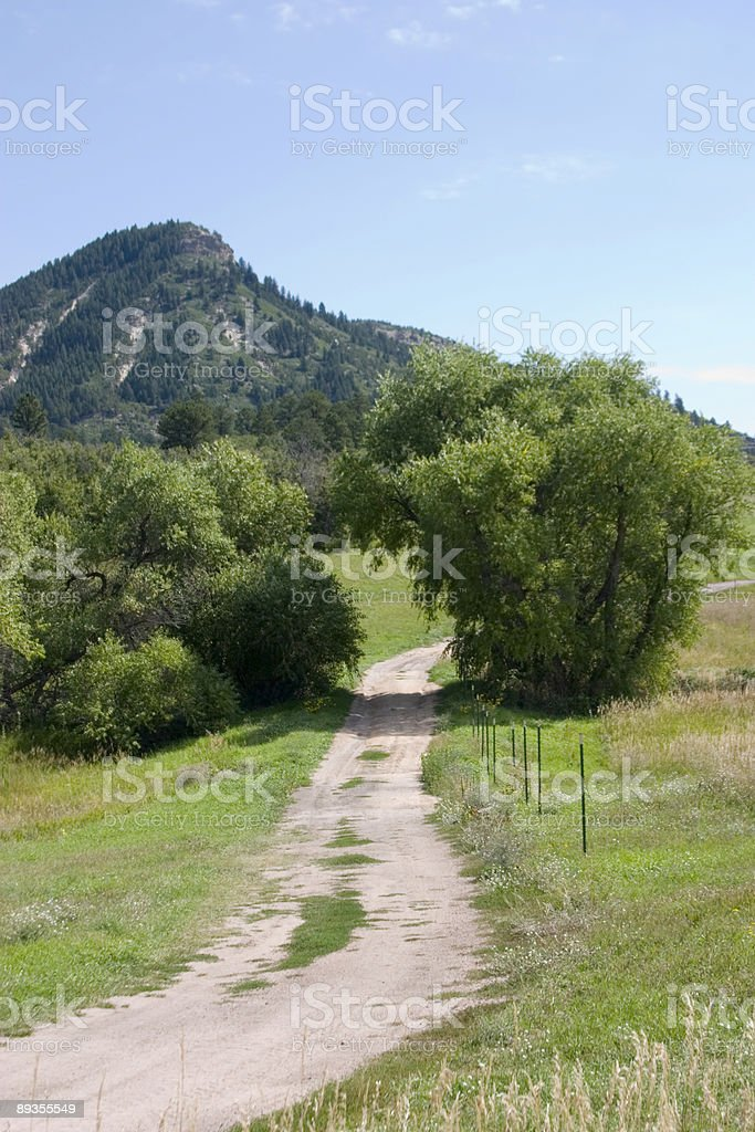 Country Road royalty free stockfoto