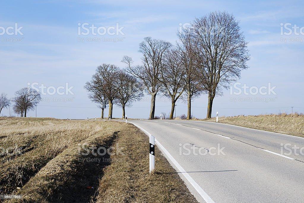 Strada di campagna foto stock royalty-free