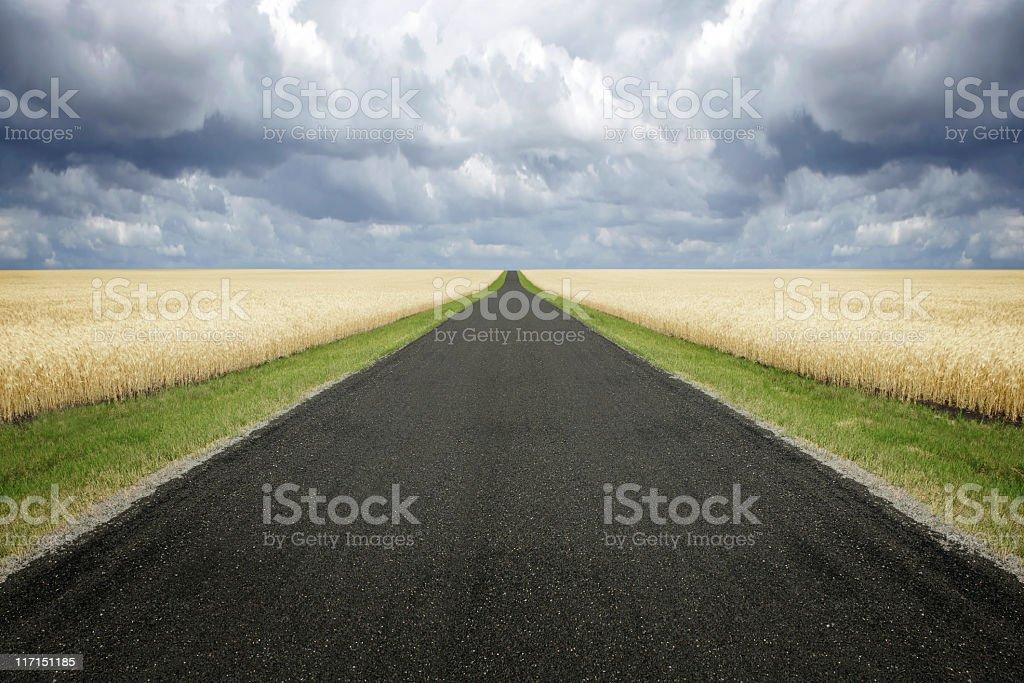XXL ländliche Straße Wolken – Foto
