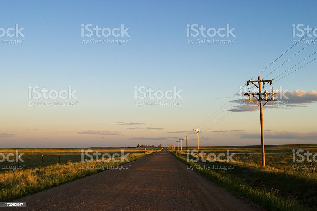 Country Road Sunset royalty-free stock photo