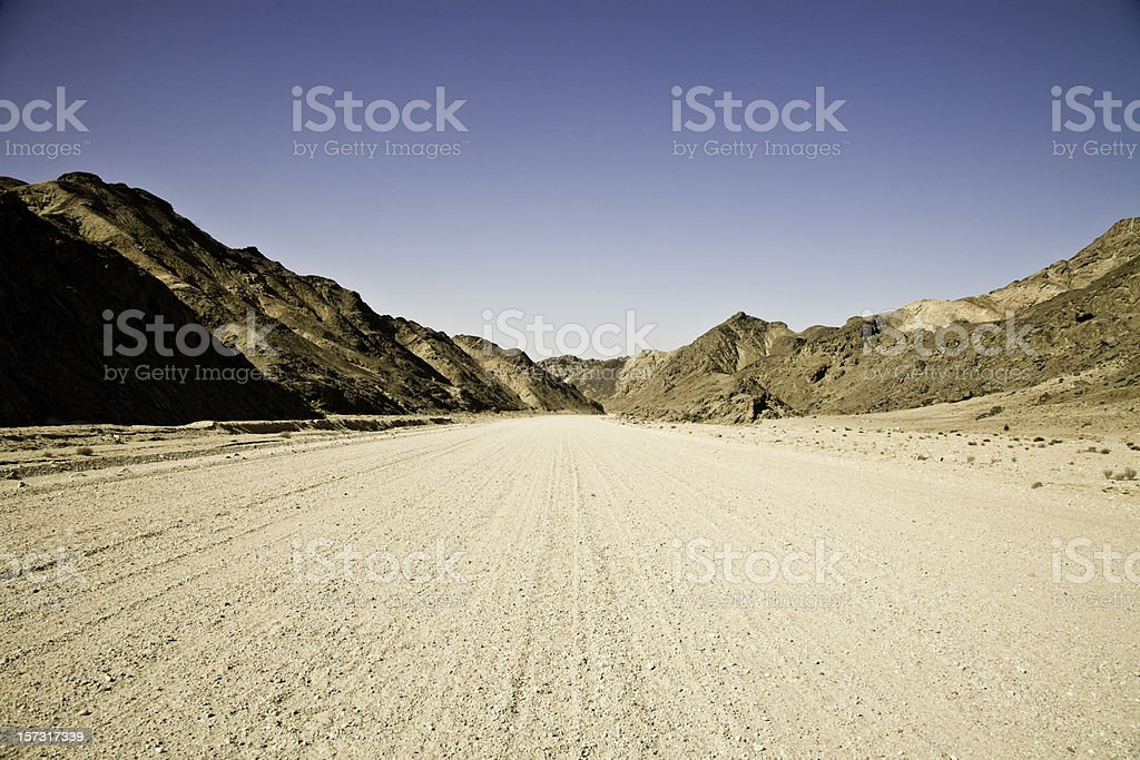Country Road through Mountains royalty-free stock photo