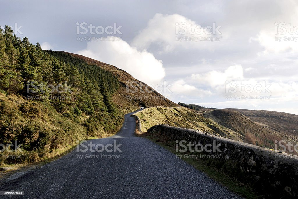 Country Road/ Wicklow Mountains/ Sally Gap/ Ireland stock photo