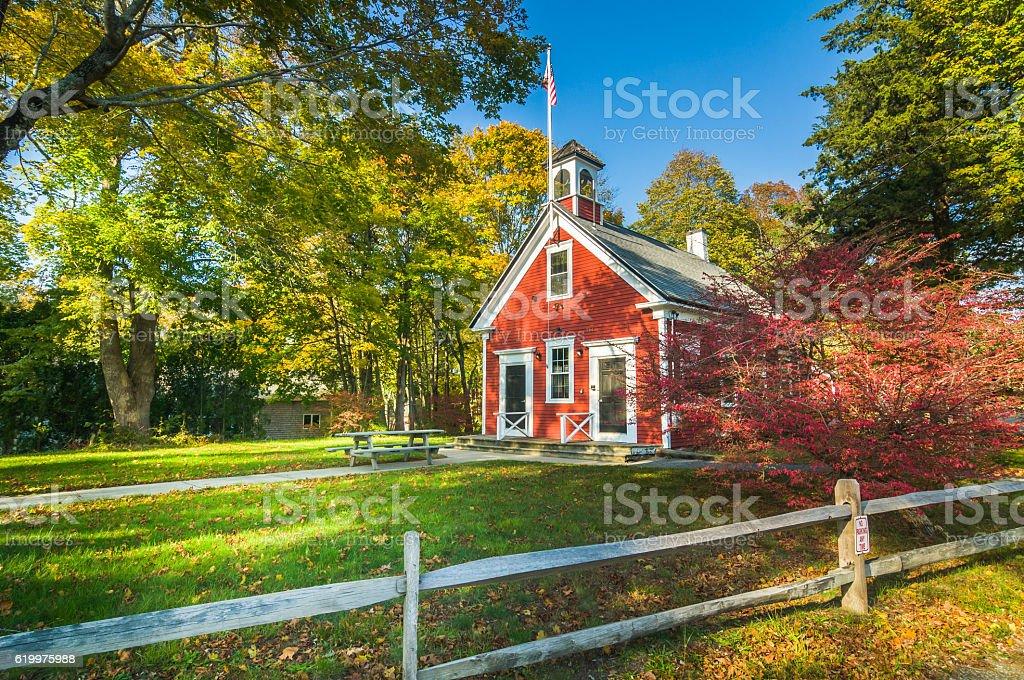 Country Schoolhouse stock photo