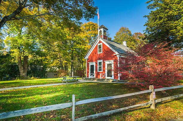23 Historic New England Schoolhouse Stock Photos, Pictures ...