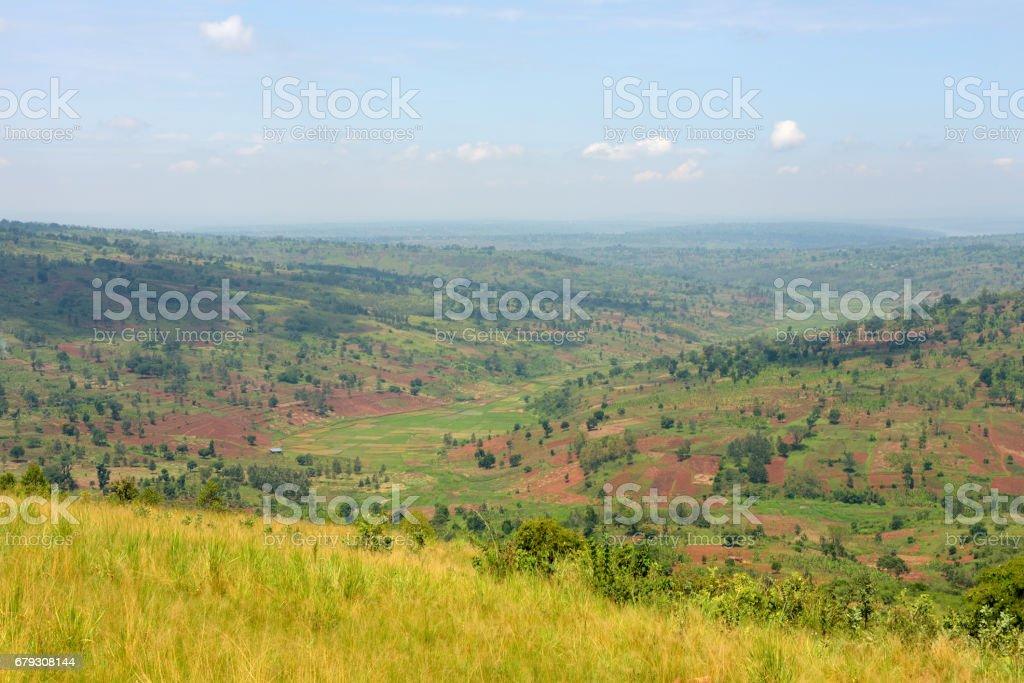 Country side between Kibungo and Sake - Rwanda royalty-free stock photo