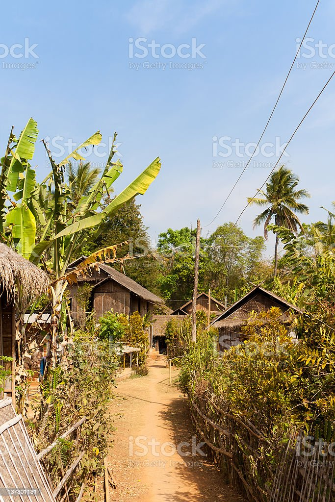 Country side in Burma royalty-free stock photo