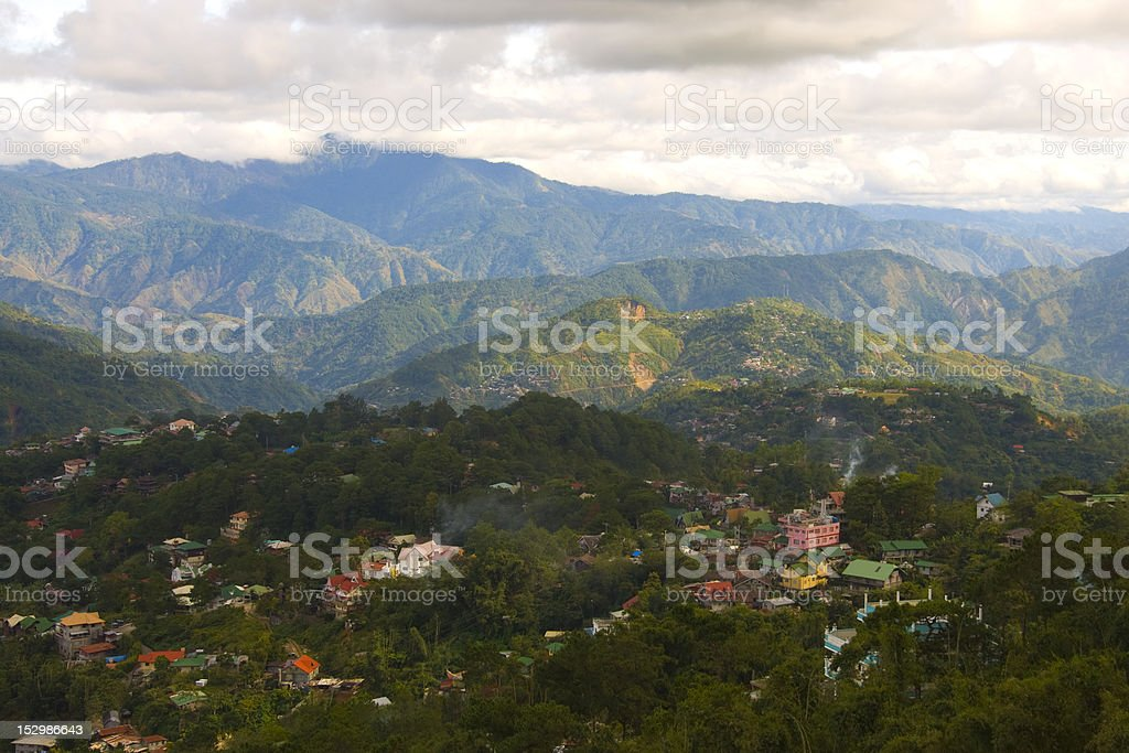 Country Side of Baguio City, Philippines stock photo