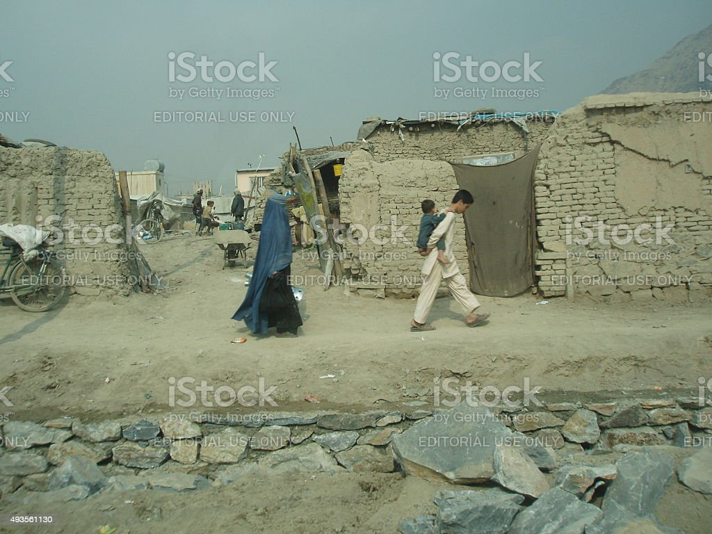Country side of Kabul stock photo