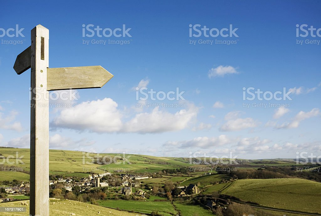 Country signpost stock photo