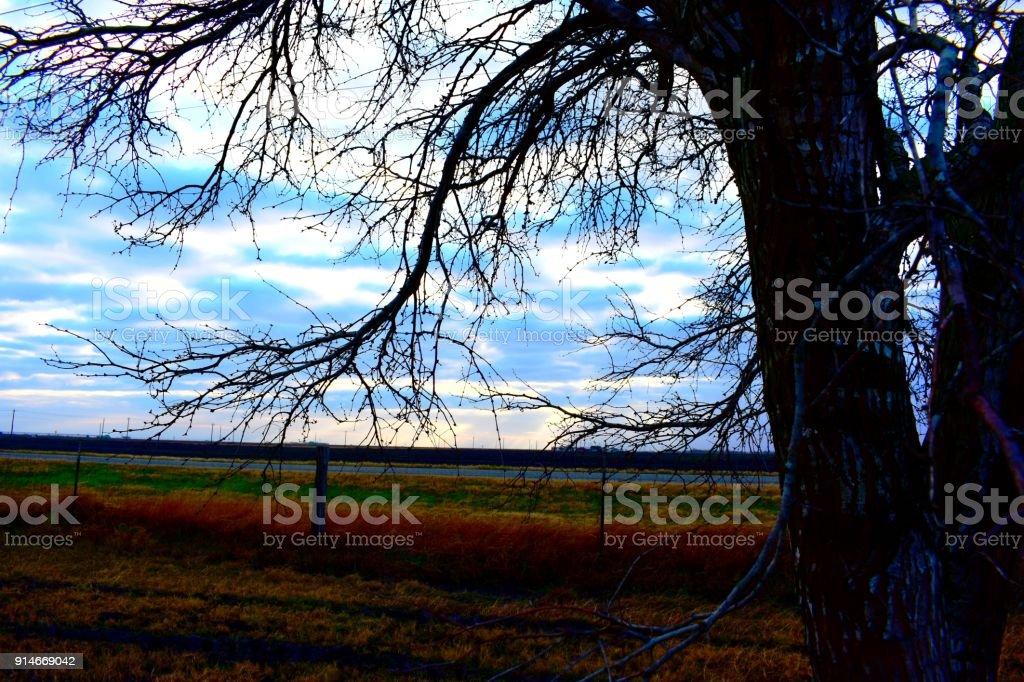 Country skies stock photo