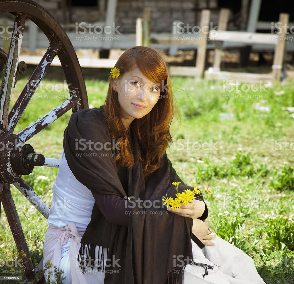 country stile model portrait royalty-free stock photo