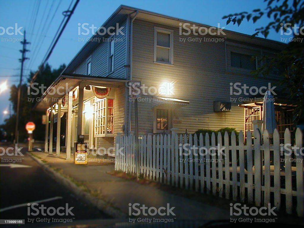 Country Store at night royalty-free stock photo