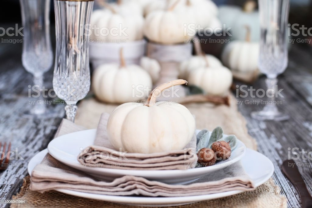 Country Table Setting stock photo