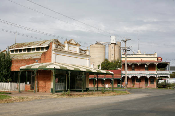 Country town of Tocumwal stock photo