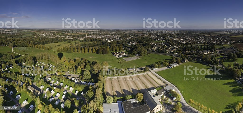 Country town suburbs caravans royalty-free stock photo