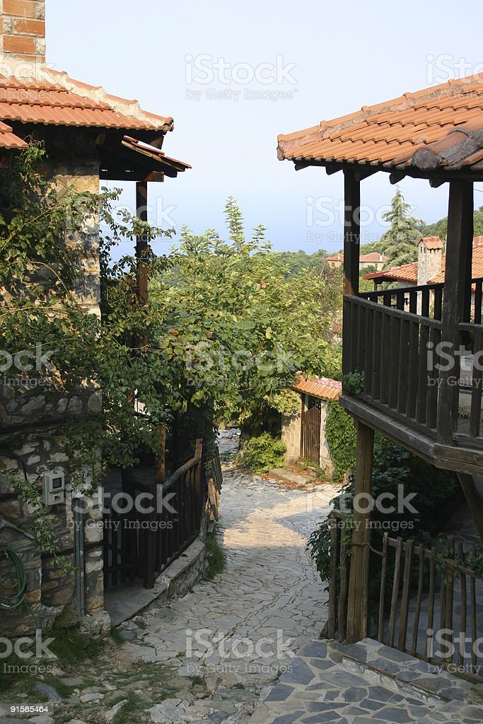 Country Village Homes royalty-free stock photo
