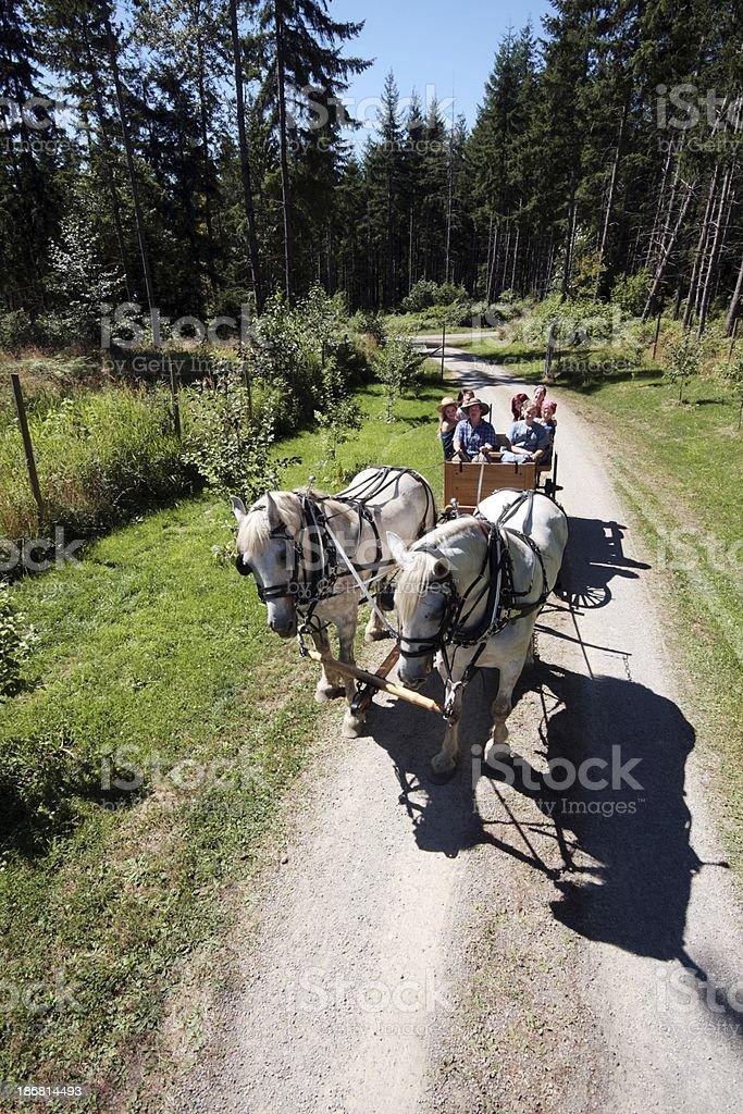 Country Wagon Ride stock photo