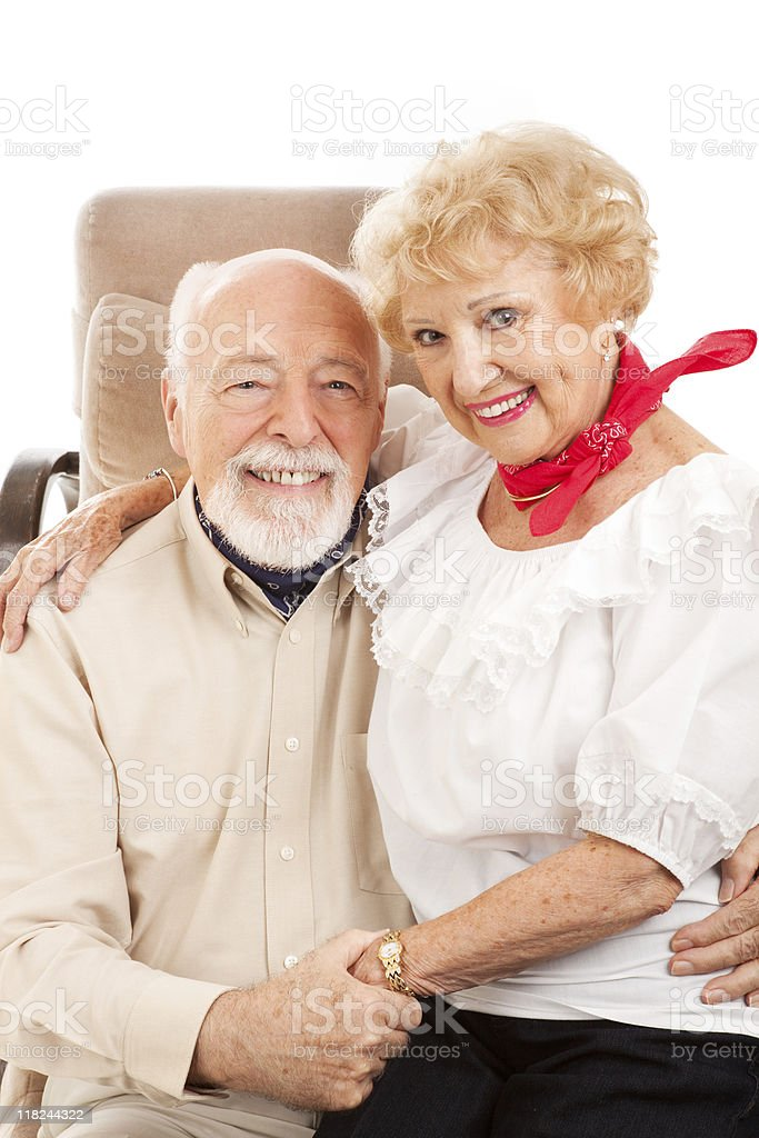 Country Western Seniors royalty-free stock photo