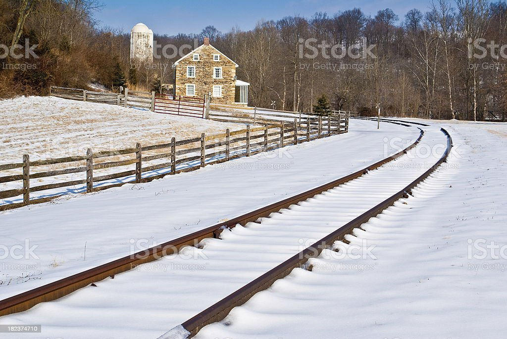 Country Winter stock photo