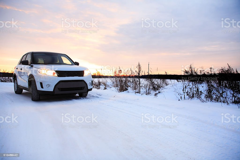 Country Winter Road stock photo