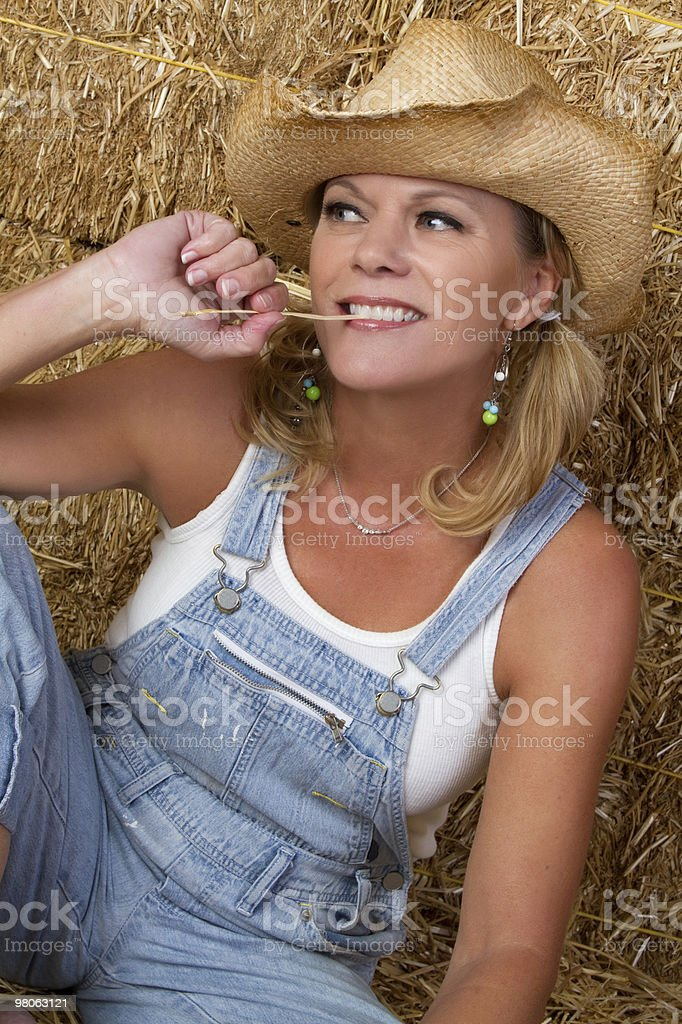 Country Woman royalty-free stock photo