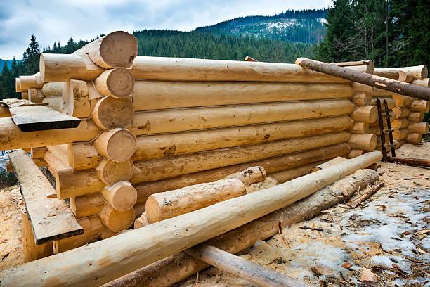 Land-Haus aus Holz – Foto