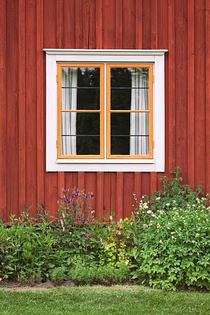 Countryhouse window bildbanksfoto