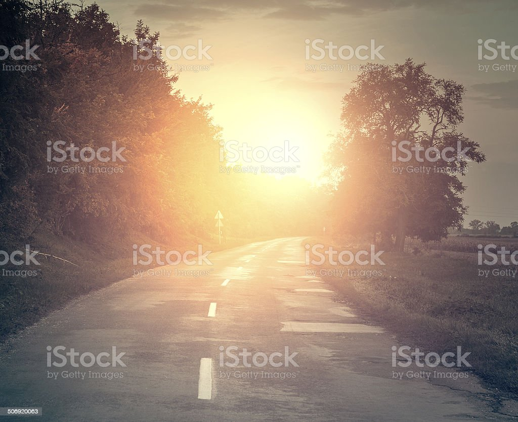 Countryroad stock photo