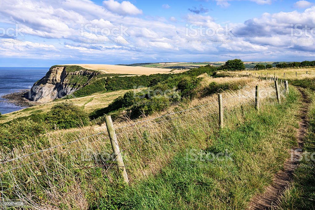 Countryside along the Cleveland Way in North Yorkshire stock photo