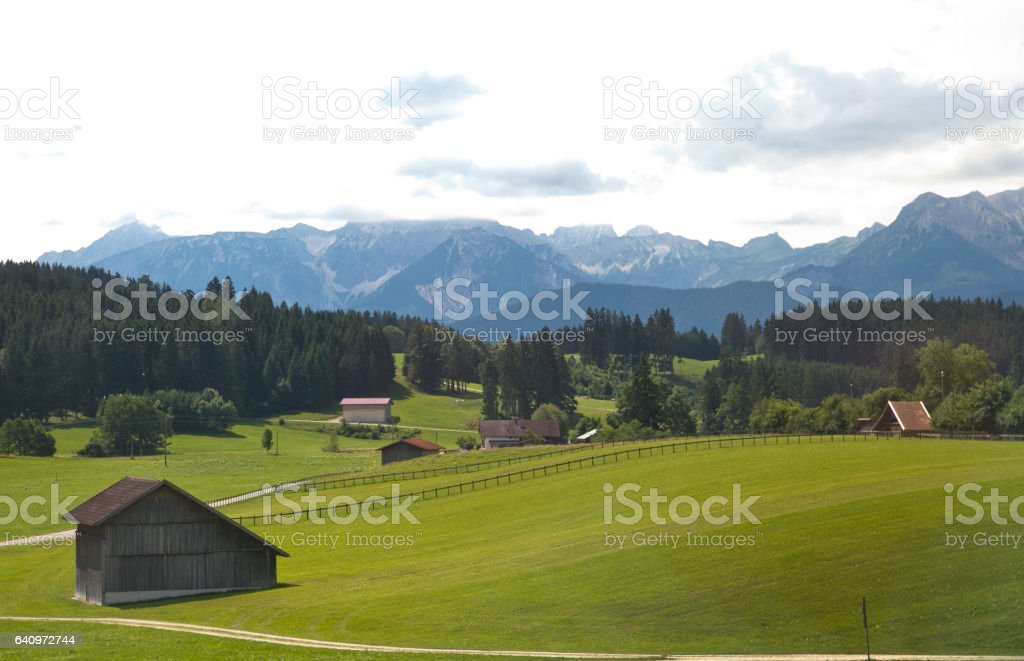 Countryside Alps stock photo