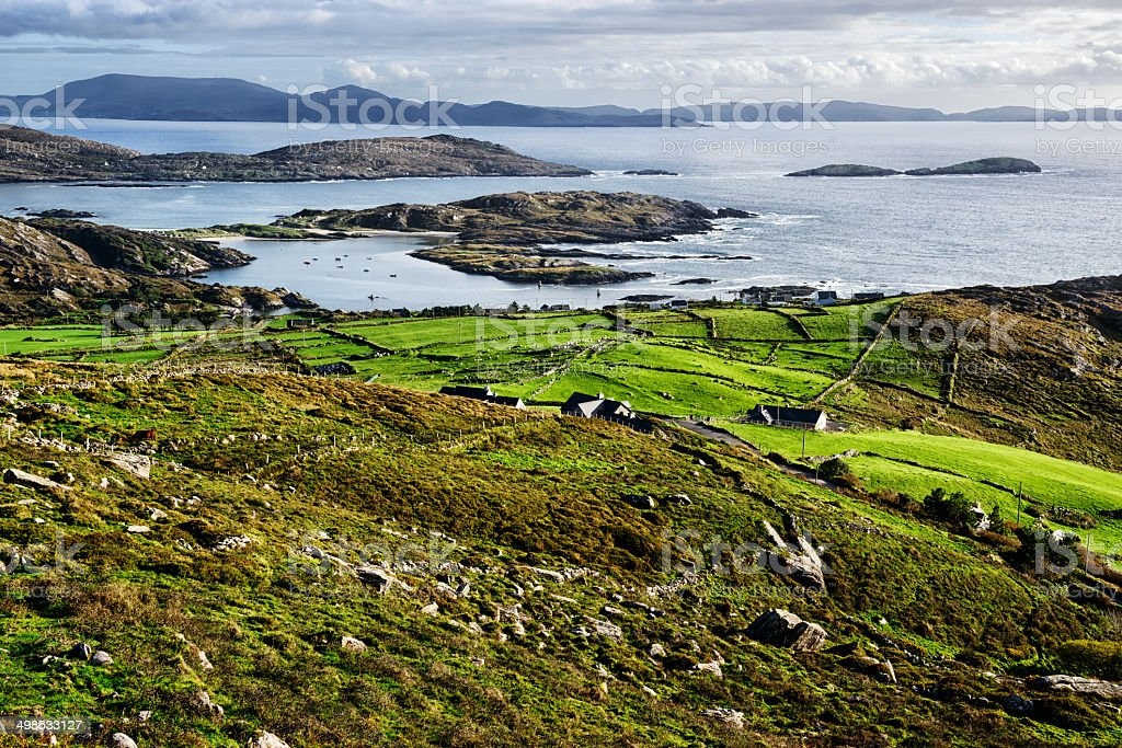 Countryside and  Atlantic Coast, Ireland stock photo