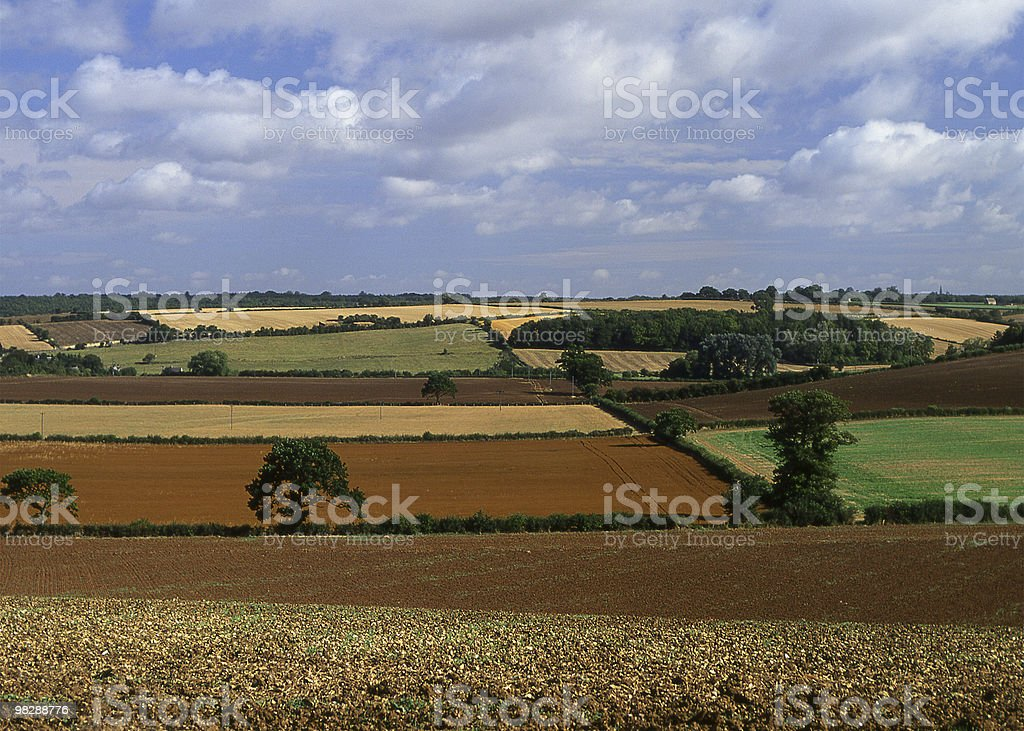 Campagna di Burford nell'Oxfordshire. Inghilterra foto stock royalty-free