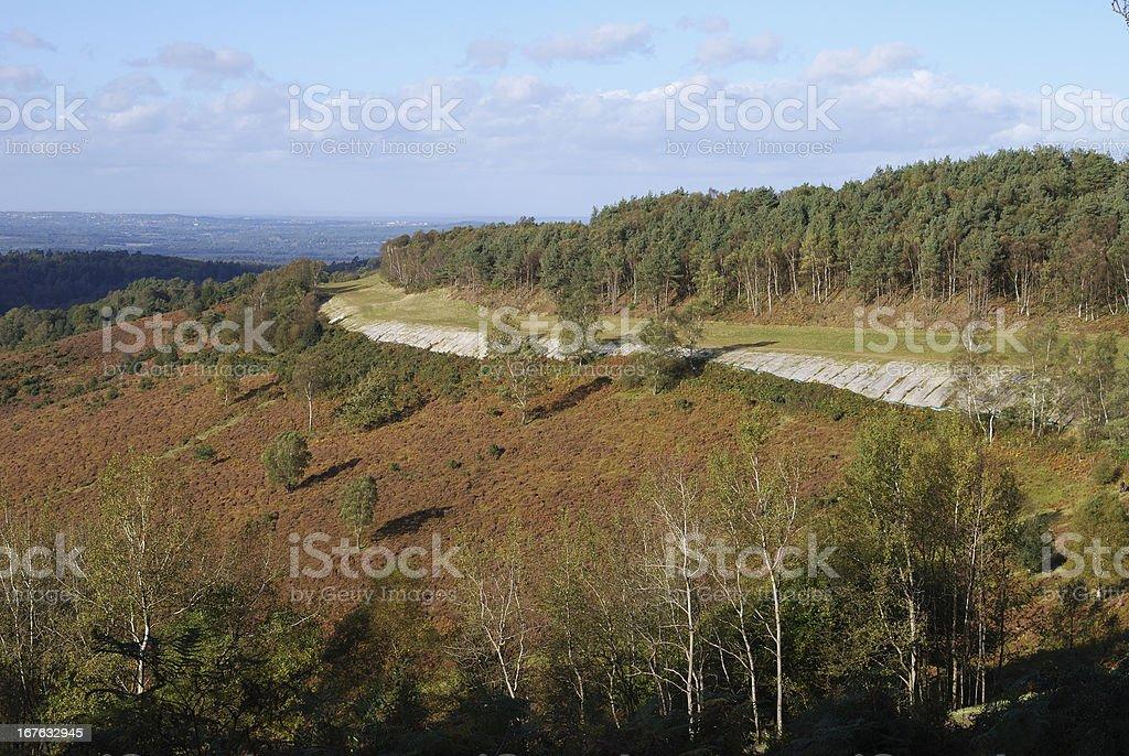 Countryside at Hindhead. Surrey. England stock photo