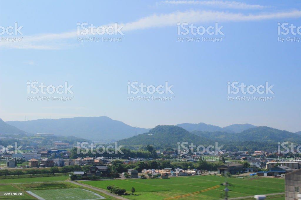 countryside at Hiroshima 2016 stock photo