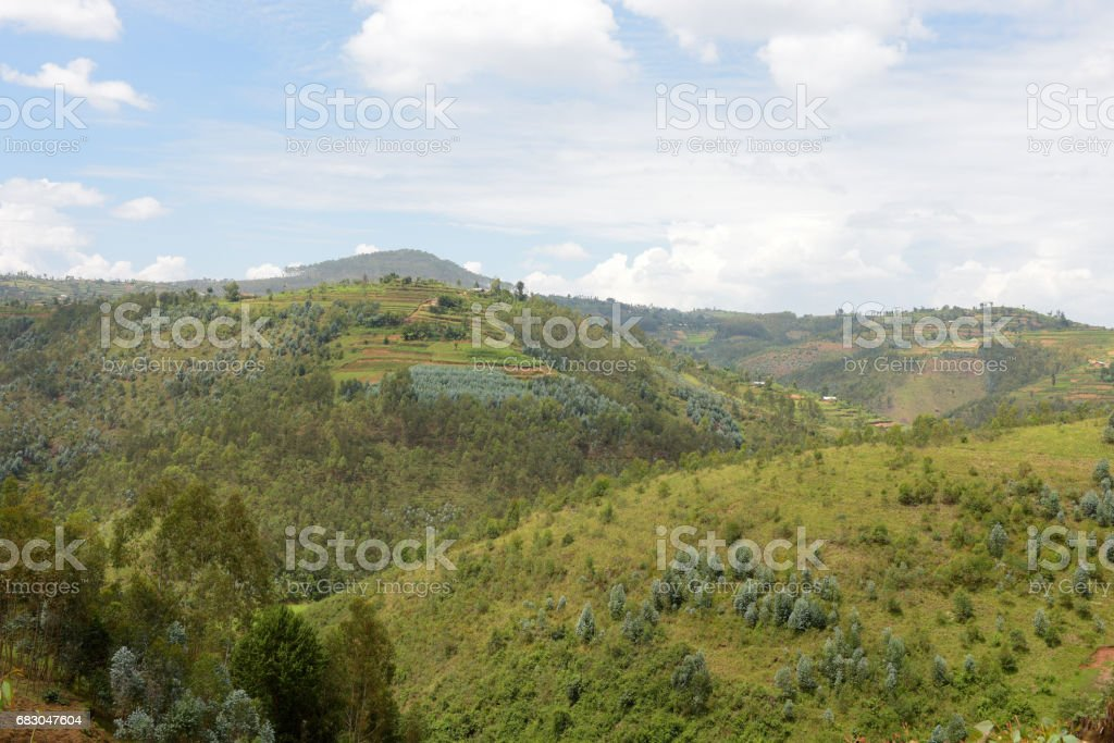 Countryside between Kibeho and Butare (Huye) - Rwanda royalty-free stock photo