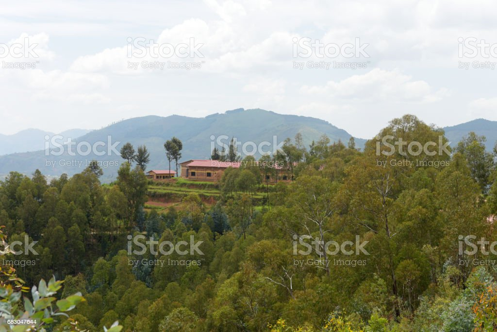 Countryside between Kibeho and Butare (Huye) - Rwanda royalty-free stock photo