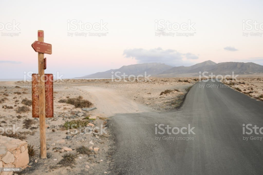 Countryside Desert Dirt Road stock photo