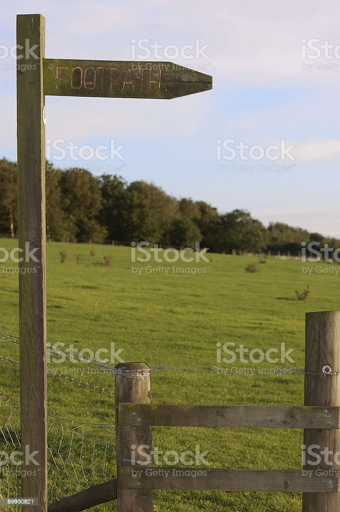 Countryside - Footpath sign royalty-free stock photo