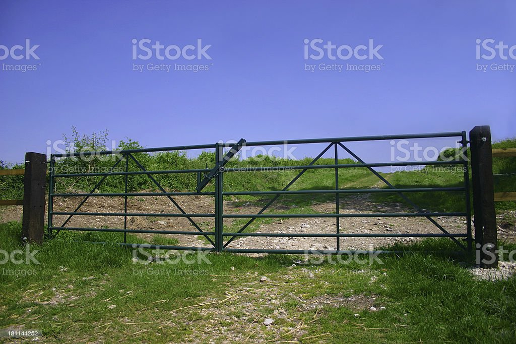 countryside gates royalty-free stock photo