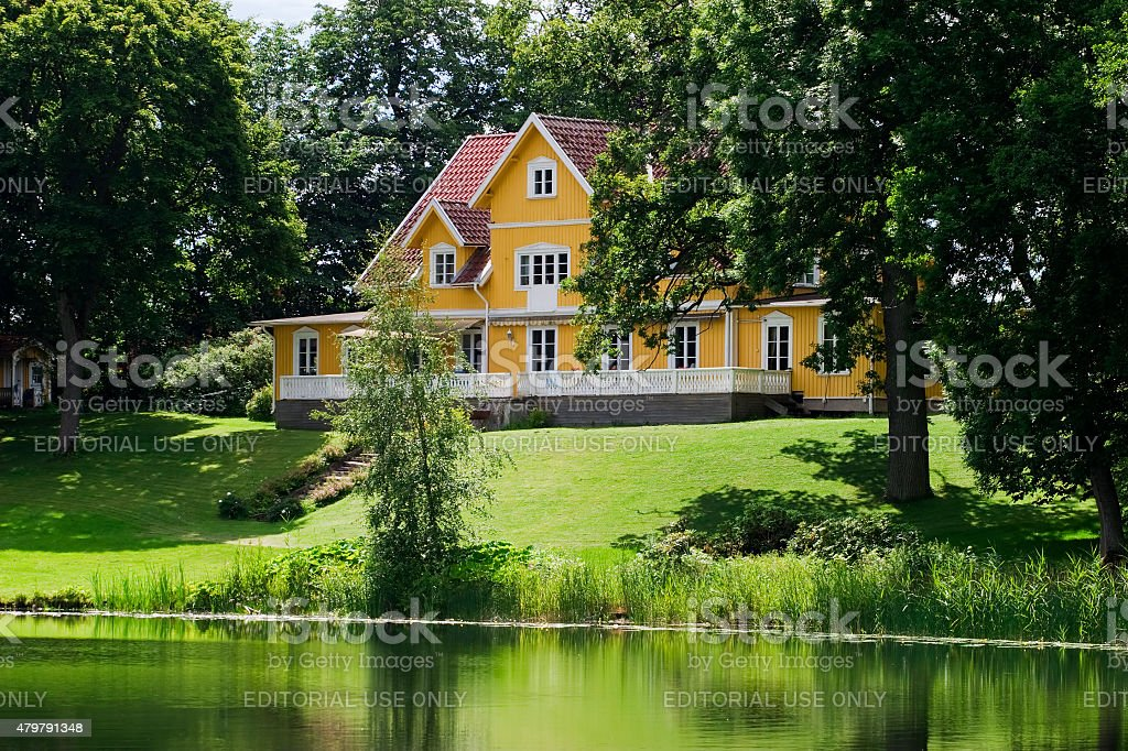 Countryside house stock photo