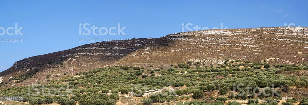 Countryside in Crete close to Knossos palace stock photo