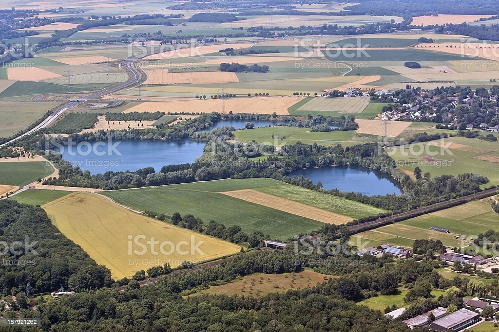 Countryside in Germany stock photo