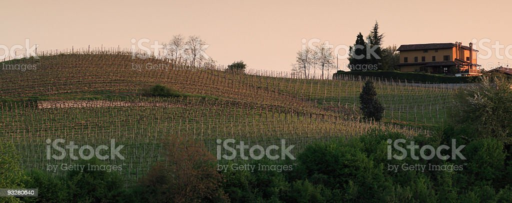 Countryside in Piemonte - Italy stock photo