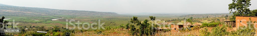 Countryside in the area of Bugesera - Rwanda royalty-free stock photo