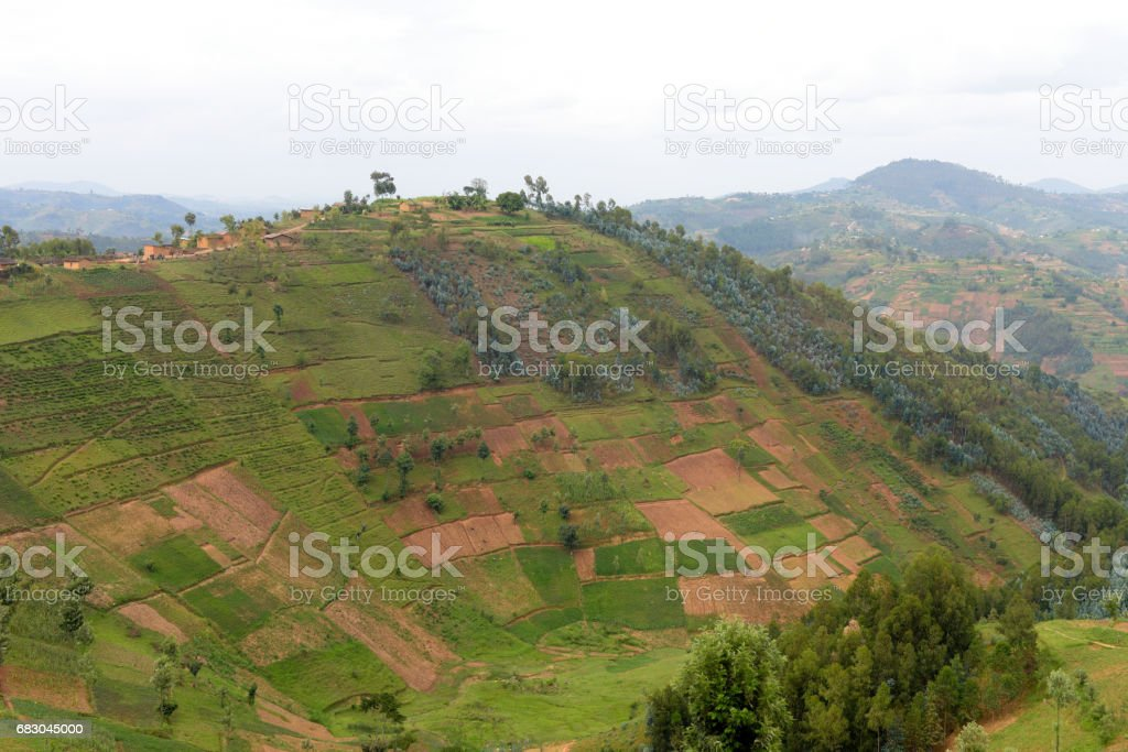 Countryside in the area of Kibeho - Rwanda foto de stock royalty-free