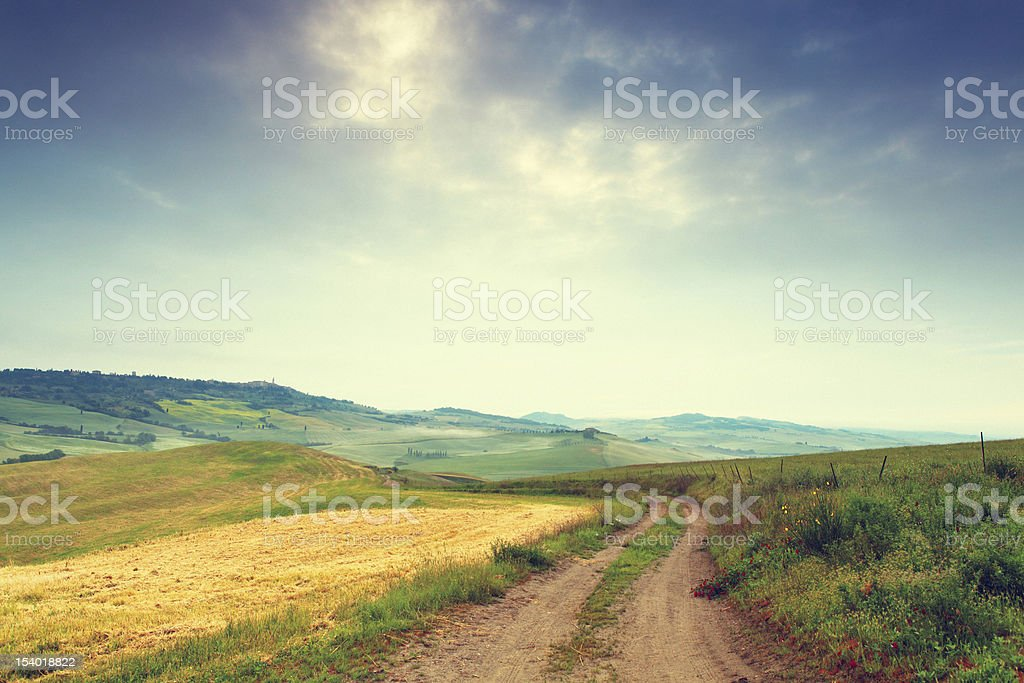 Countryside in Tuscany royalty-free stock photo