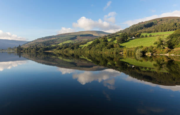 Countryside In Wales An image of beautiful Welsh countryside shot at Talybont-On-Usk reservoir, Wales, UK brecon beacons stock pictures, royalty-free photos & images
