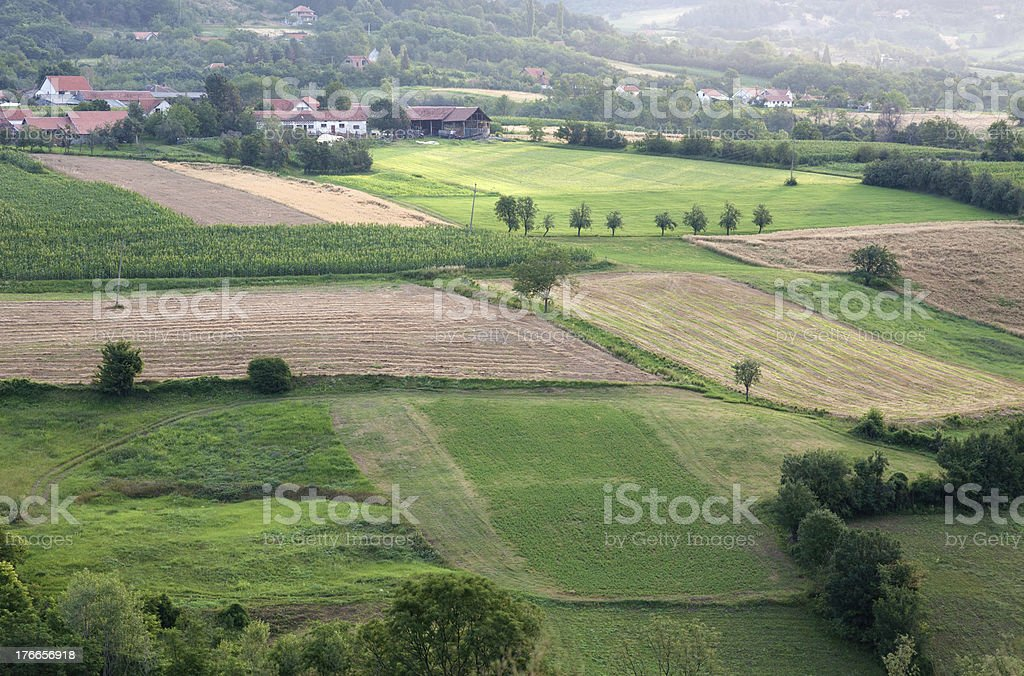 Countryside landscape at dawn. royalty-free stock photo